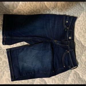 Calvin Klein dark wash denim Bermuda shorts
